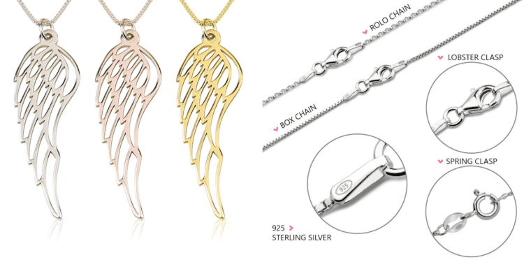 #ONecklace Angel Wing #Review #Christmas2019