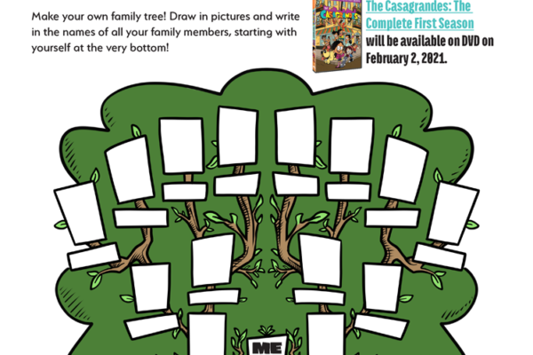 Family Tree Printable Inspired by The Casagrandes